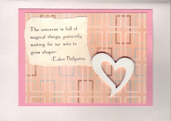 202 - Pink card with heart and quote