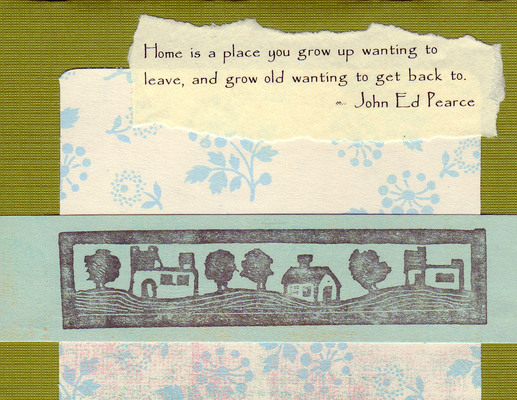 208 - Home quote with home stamp