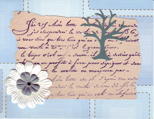 220 - Elegant writing with tree and flower