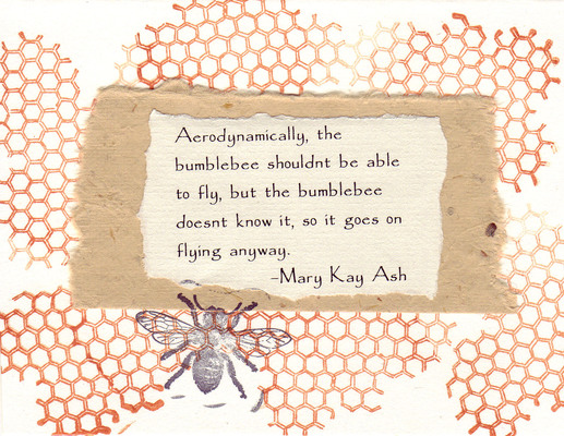 (SOLD) 227 - Honeycomb, bees and bee quote