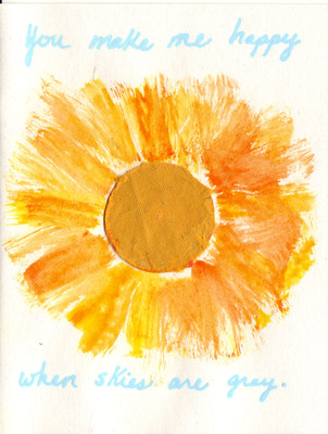 232 - 'You make me happy when skies are gray' w. playful sun