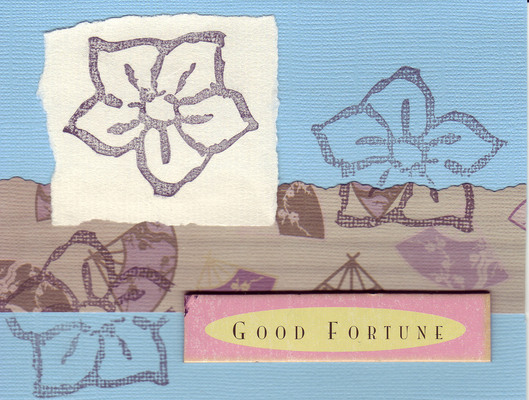 236 - Floral stamps w, 'Good Fortune'