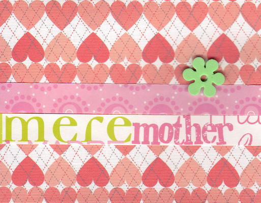 (SOLD) 029 - 'Mother' on a funky heart patterned paper