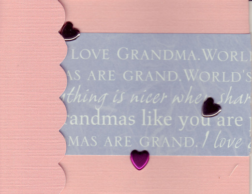 031 - (SOLD) 'I love Grandma' with hearts