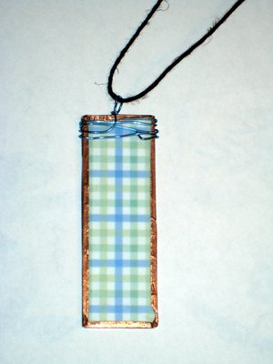 (SOLD) 010 B - Green and blue plaid