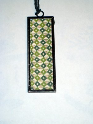 (SOLD) 016 B - Green diamond pattern