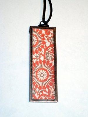 (SOLD) 018 B - Bold red floral print