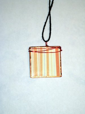 031 A - (SOLD) Orange stripes