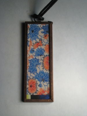 (SOLD) 61 A - Blue and red flowers