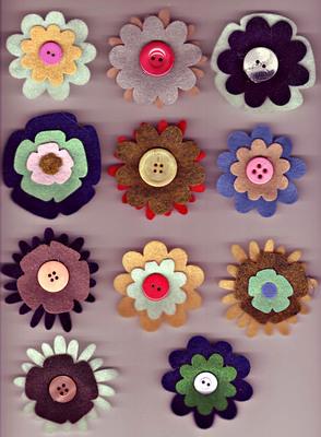 Flower Pins 1